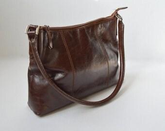 Vintage Cofee Brown Shoulder Bag Leather Purse Women's Leather Hobo Handbag Shoulder Bag