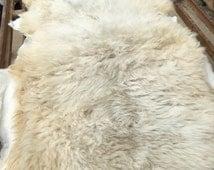 """Large, Soft Long Staple America Sheepskin - Sustainably raised - 36""""x50"""" - White"""