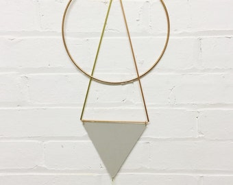 Circle Geometric Copper & Paper Wall Hanging