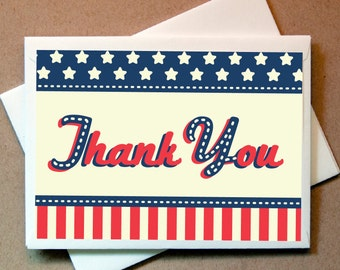 Patriotic Thank You Cards (24 cards and envelopes)