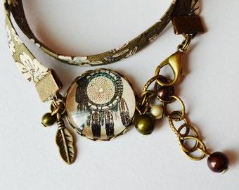 Liberty khaki cabochon bracelet grabs-dreams