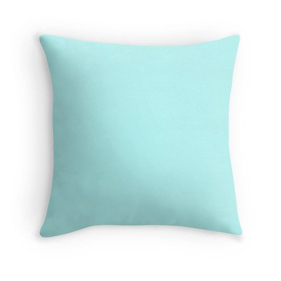 Pale Aqua Throw Pillow : Pale Turquoise Pillow Pale Turquoise Throw Pillow Turquoise