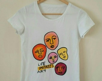 Life Imitates Art Doodle Heads Shirt