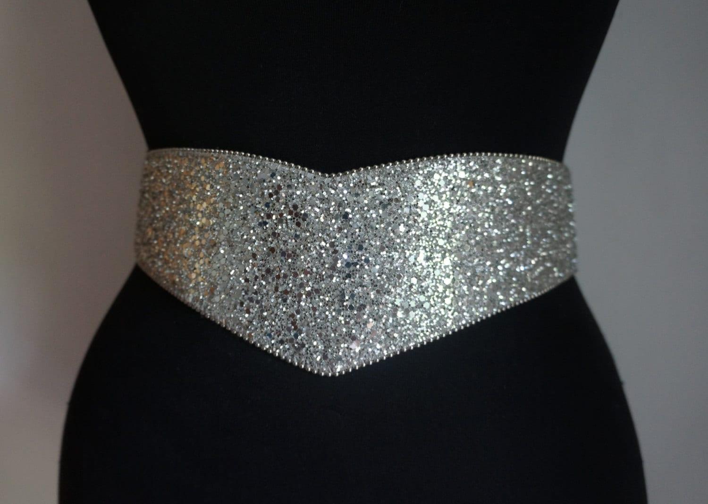 wide silver glitter vinyl belt s drop waist belt