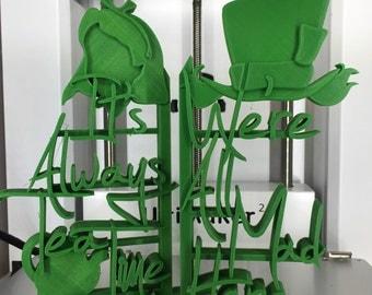 Alice in Wonderland 3D Printed lightweight Decorative Bookends