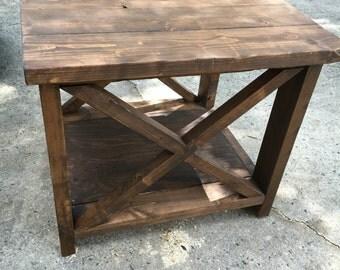 Farmhouse End Tables, X style