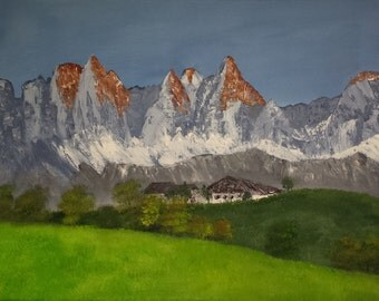Kaiser mountains, painting on stretched canvas