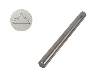 5mm Triangular Mountain Outline Shaped Tool for Stamping and Marking Jewelry and Metals - PUN-101.68