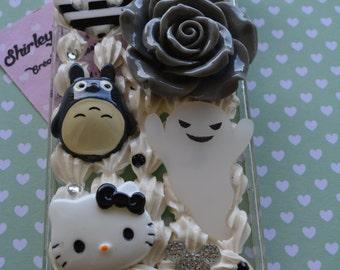 Hull Cute Kawaii grey grey Totoro Iphone 5 / 5s