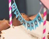 """Pink and Black Abstract """"Birthday B*tch"""" cupcake toppers and mini cake bunting for Birthday. *INSTANT DOWNLOAD*"""