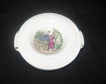 Salem China Company 1950'S Godey Print Of Victorian Scene/ Vintage Dinnerware/Ceramics/Godey Print On China Victorian Ladies