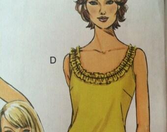 Nice Summer Sleeveless Top Pattern Butterick 5493