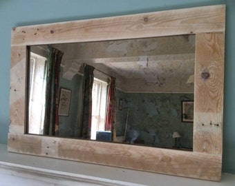 Rustic Mirror made from reclaimed pallet wood with Bronze Antique Mirror Glass