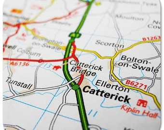 Catterick Map Coasters
