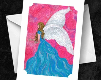 Angel - 7x5 Folded Greetings Card