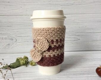 Crochet Cup Cozy, Tea Cup Cozy , Coffee Cozy, Coffee Cup Sleeve, Tea Cup Sleeve, Cup Cozy, Tea Cozy, Coffee Cozy, Organic Coffee Cozy