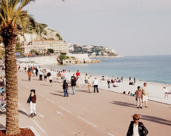 Nice, France Boardwalk Color Photography LARGE PRINT AVAILABLE