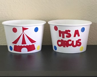 Circus Party Snack cups, Carnival Party Snack Cups