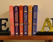 Solid wood bookends - Primary colors
