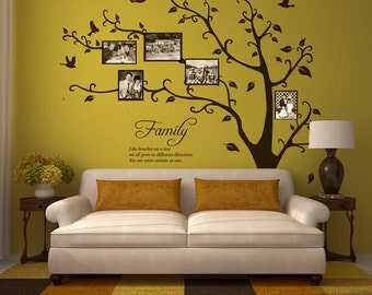 Family Tree with Family Saying Vinyl Wall Graphic Decals. ~ Item 0431