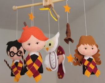 Harry Potter Mobile, Baby Crib Mobile, Harry Potter Nursery, Wizard, Baby Furniture, Boy Bedding