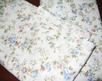 Vintage Percale Twin Flat Sheet/Shabby Chic/Flowers