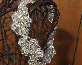 Silver Celtic Flower Bracelet - Gift for Her Jewelry - Unique Handmade Jewelry - Sample Sale
