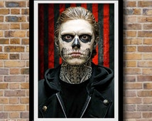 Tate Langdon Digital Painting Print, American Horror Story: Murder House, Season 1