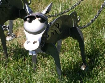 Metal Mule Sculpture, Steel Donkey, farm garden art, metal donkey, donkey landscape art, mule landscape art, horse sculpture