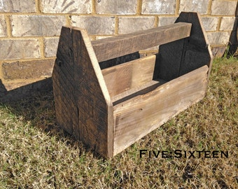 Barnwood Tool Caddy Centerpiece