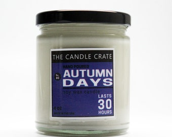 Autumn Days 8 Ounce Scented Soy Wax Candle