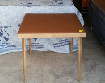 items similar to card table vintage mid century