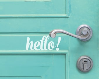 Hello! / Hola! Door Decal Lettering / Curb Appeal / Greeting / Outdoor Decal Porch Decal / Vinyl