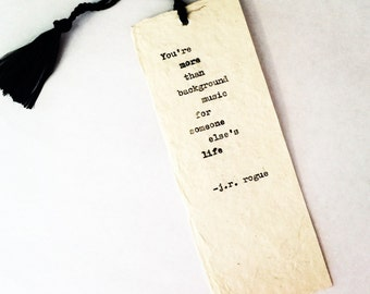 Typewritten Bookmark