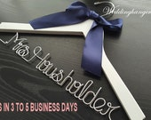 Personalized Wedding Hanger, bridesmaid gifts, name hanger, brides hanger