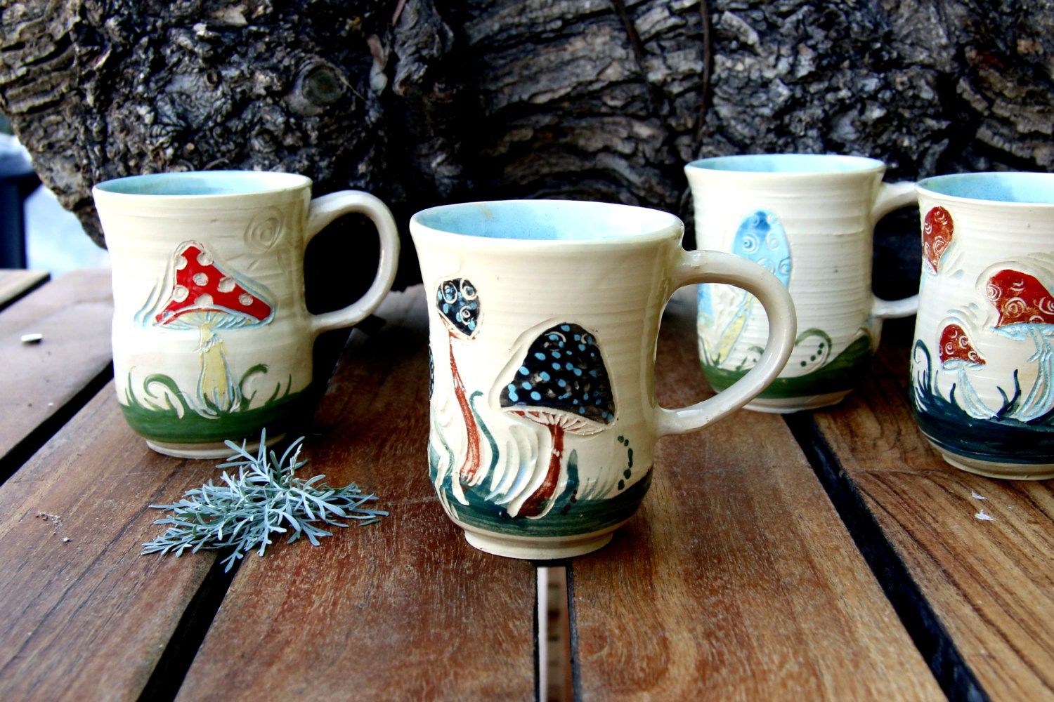 Unique Coffee mugs Ceramic mugs mushroom coffee mug set