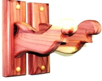 Aromatic Cedar Bow Rack Hangers Compound or Recurve Wall Mount Display
