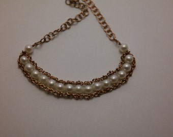 bracelet silver and pearls