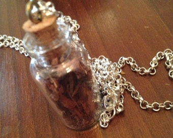 Necklace with willow bark