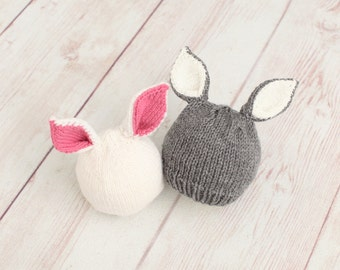 Baby Knit Bunny Hat