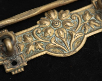 Set of Six Edwardian Brass Drop Handles