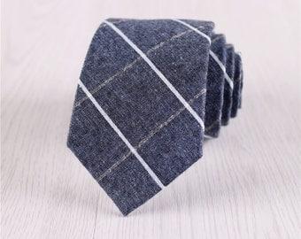 dark blue necktie.gingham necktie for men.plaid ties with gift box.party ties.mens accessories.engagement ties.adults neck ties+nt.s422