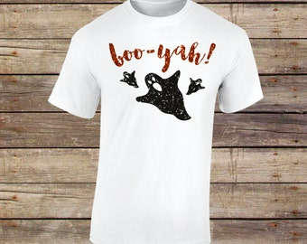 Booyah Shirt, Boo-yah Shirt, Boo Shirt, Ghost Shirt, Halloween, Ghost, Halloween Shirt, Boo, Halloween Glitter Shirt,Happy Halloween,Glitter
