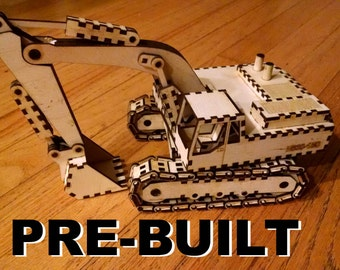 Laser cut wood excavator kit, built for you!