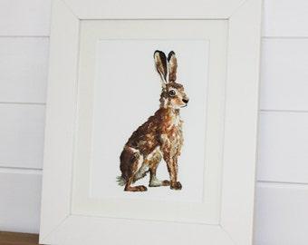 Hare Watercolour Fine Art PRINT