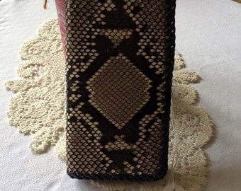 Leather Wallet, Python Skin Roper Style