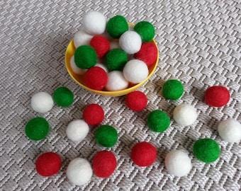 100 Wool Felt Balls (2cm) Choose Your Colors.