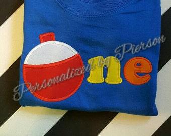 1st birthday bobbin applique shirt