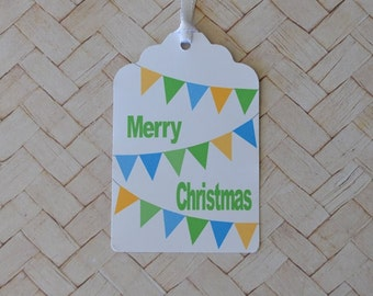 Merry Christmas Bunting Gift Tag