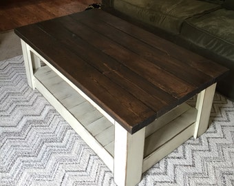 distressed coffee tables | etsy